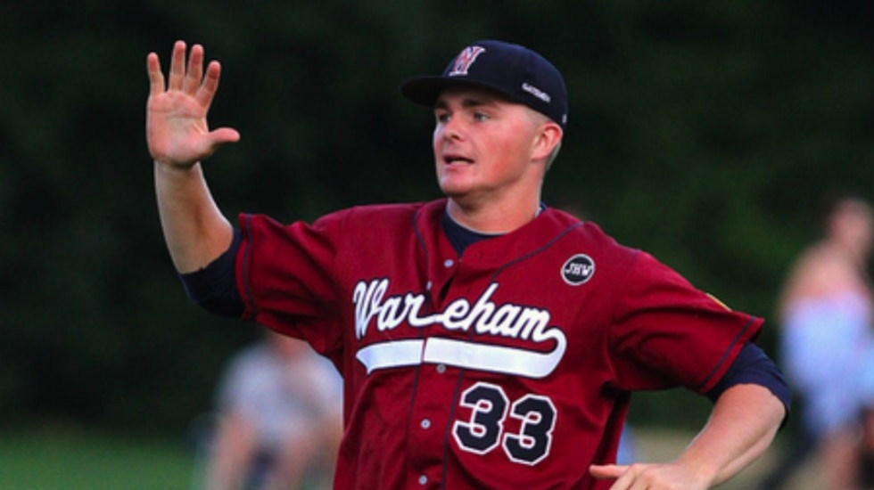 Sean Newcomb pitched briefly for Wareham in 2012 and 2013.