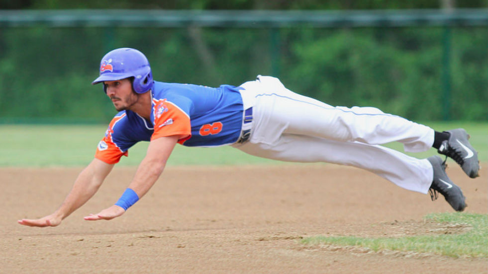 Jacob Noll had three hits Friday and leads the league in batting average.