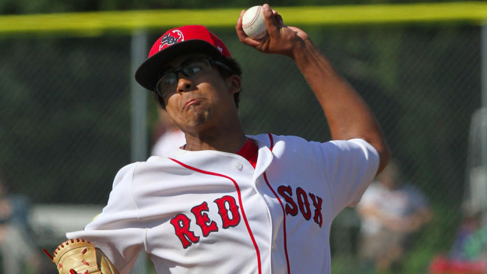 Ricky Thomas delivers a pitch in game two of the Cape League championship series Monday. The lefty improved to 9-0 in pushing the series to three games.
