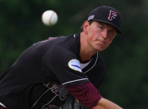 Brady Puckett tossed six shutout innings in Falmouth's win.